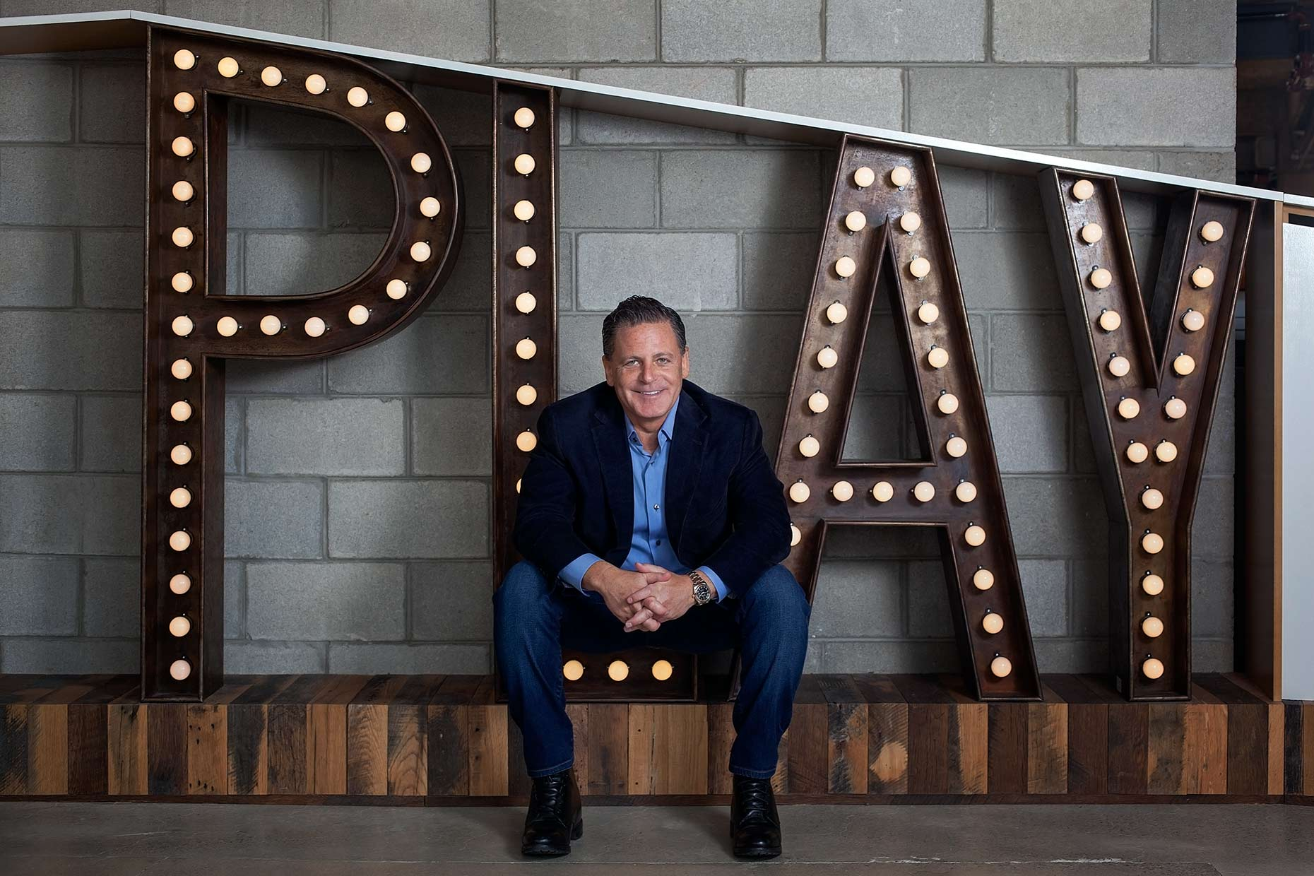 Detroit Editorial Portrait Photographer Dan Gilbert, chairman and founder of Rock Ventures and Quicken Loans Inc
